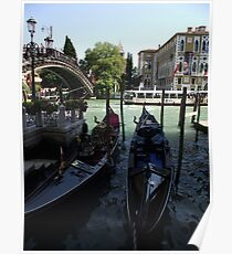 Two Gondolas Poster