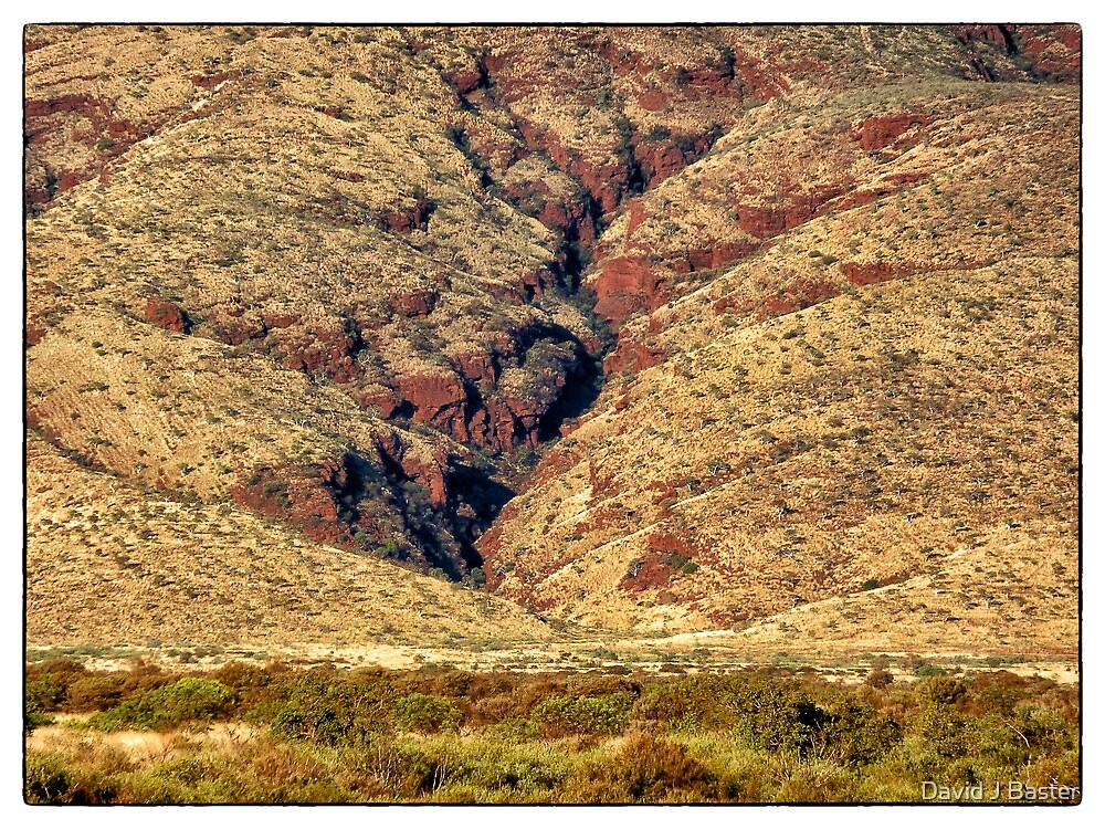 Closer Image of Ranges near Tom Price by David J Baster