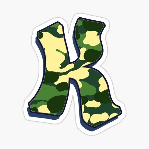 Letter K - Camo Sticker
