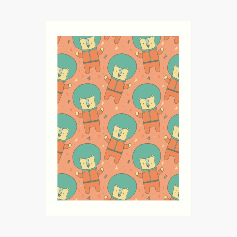Bearly There in Dreamsickle  Art Print