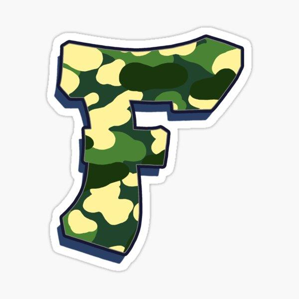 Letter F - Camo Sticker