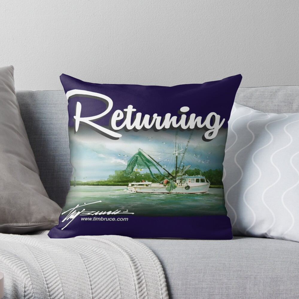 Returning by Tim Bruce Throw Pillow