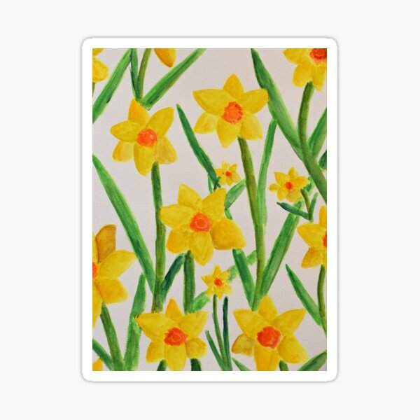 Daffodils Smiling Upon You Sticker