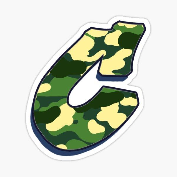 Letter C - Camo Sticker