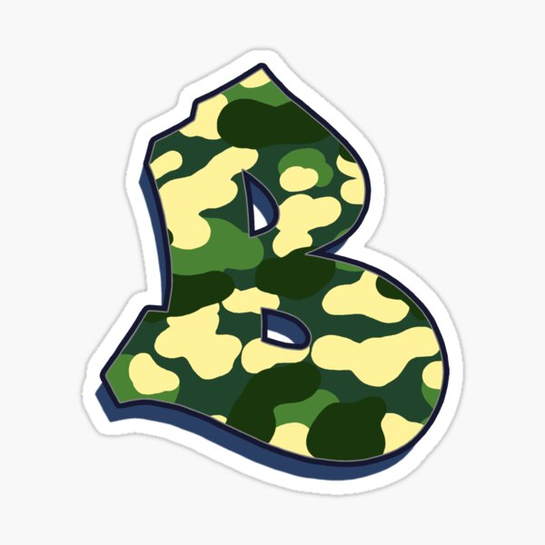 Letter B - Camo Sticker