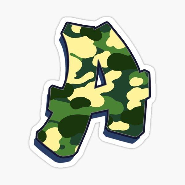 Letter A - Camo Sticker