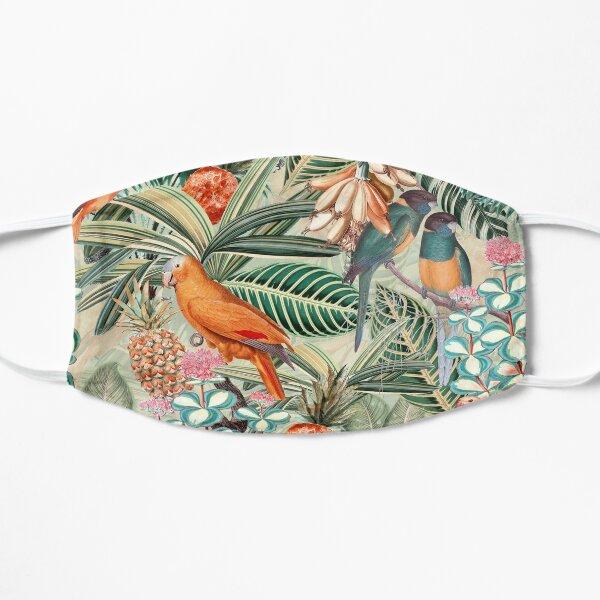 Vintage Orange Tropical Bird Jungle Garden Flat Mask