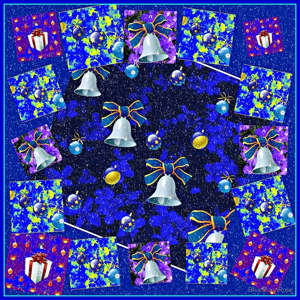 Christmas Cards Fantasia Collage with Snowflakes by BlueMoonRose