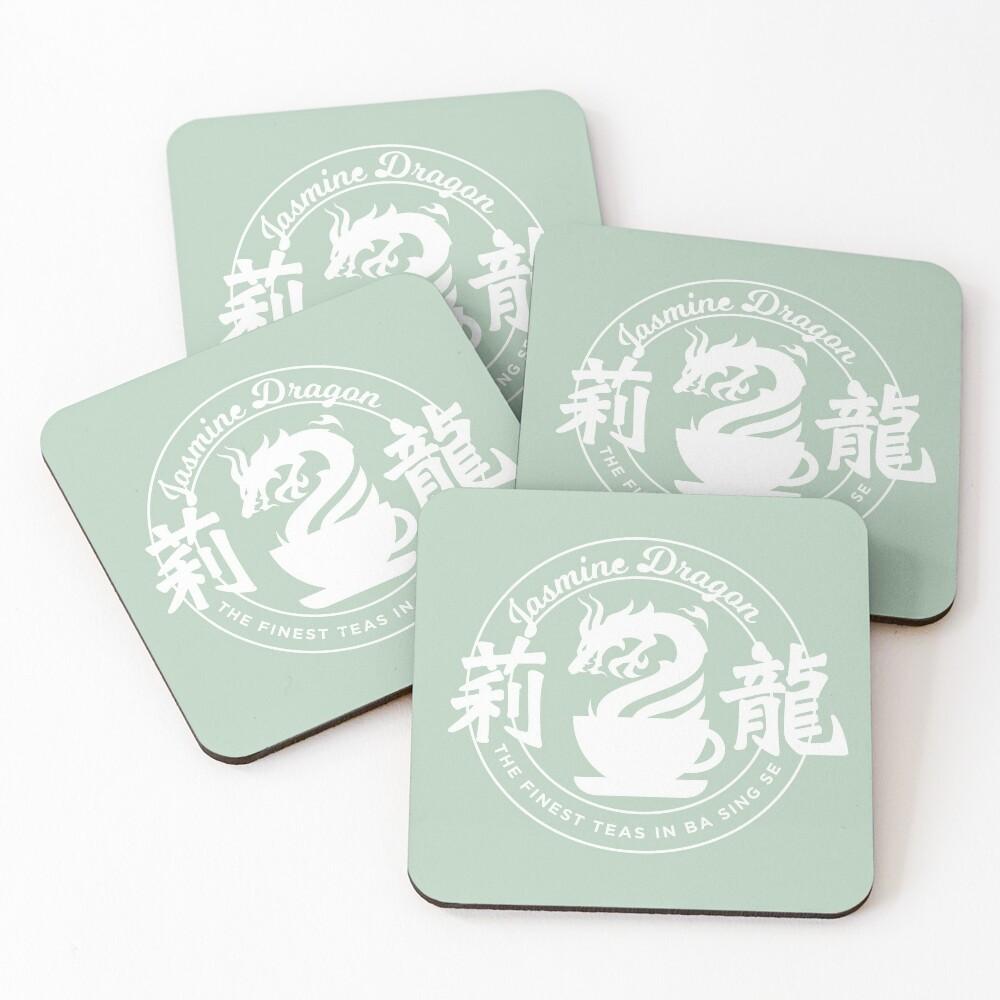 Jasmine Dragon Ba Sing Se (White) Coasters (Set of 4)