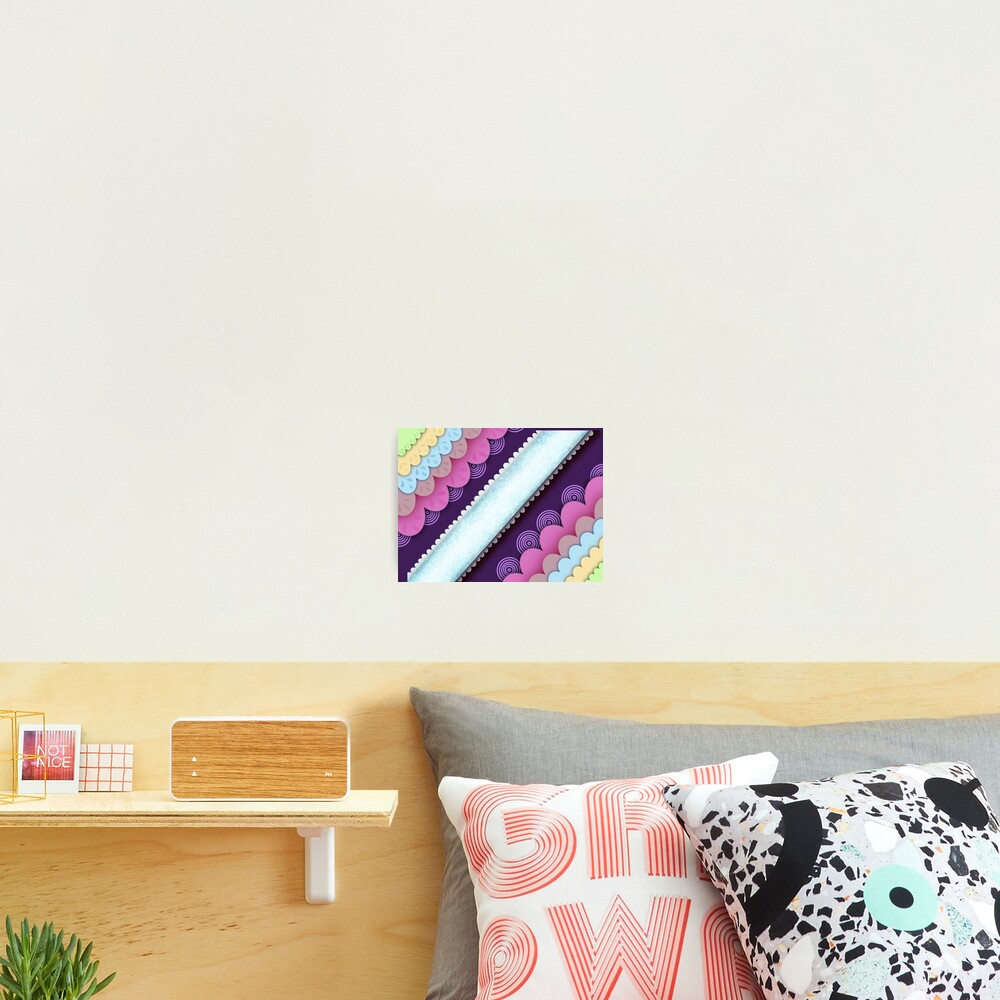 Candy land asymmetrical pattern Photographic Print