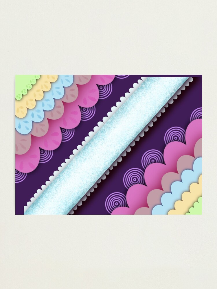 Alternate view of Candy land asymmetrical pattern Photographic Print