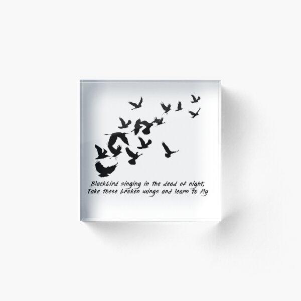 Blackbird, Beatles - Lyrics Acrylic Block