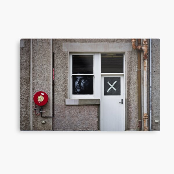 The face at the window, the cross on the door Metal Print