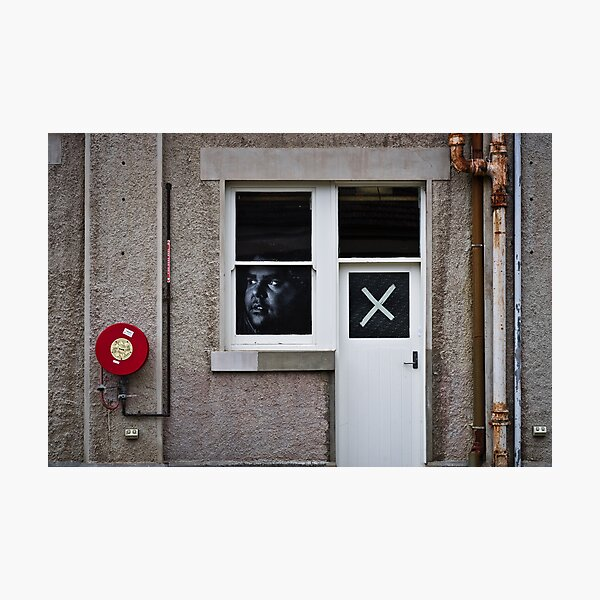 The face at the window, the cross on the door Photographic Print