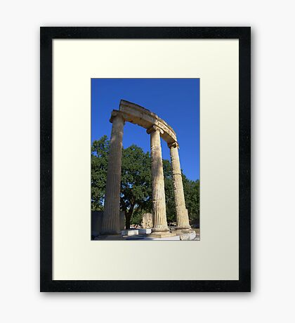 Ruins of the Philippeion, Olympia, Greece Framed Print