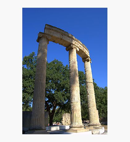Ruins of the Philippeion, Olympia, Greece Photographic Print