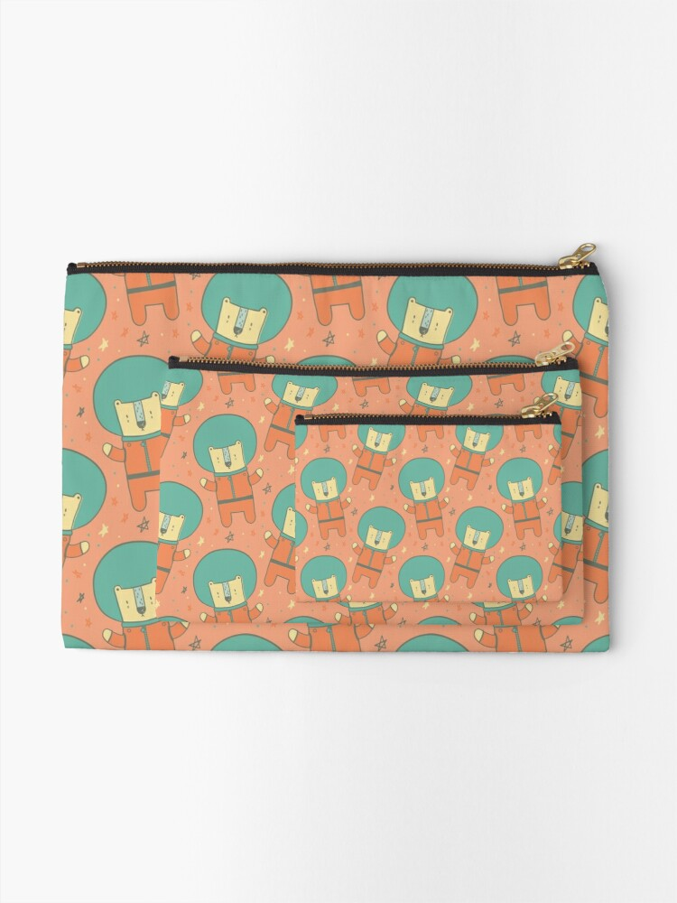 Alternate view of Bearly There in Dreamsickle  Zipper Pouch