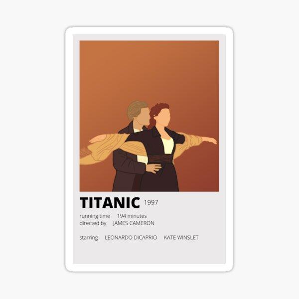 titanic minimalist sticker Sticker
