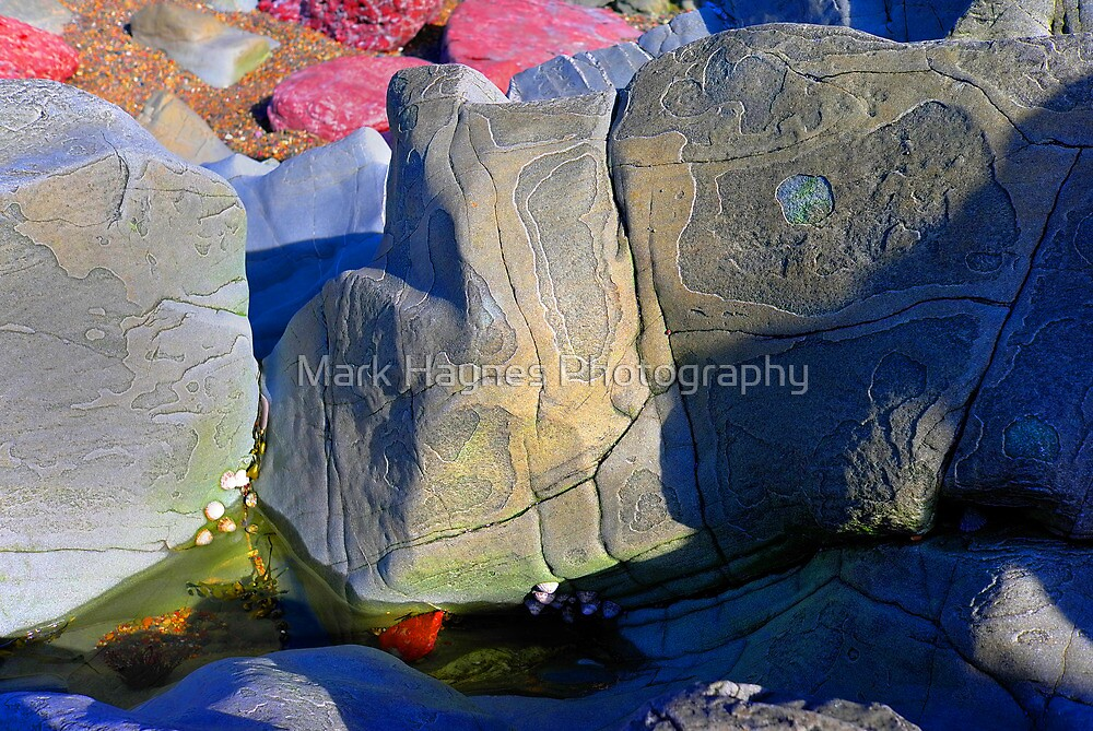 Psychedelic Flaky Rock by Mark Haynes Photography