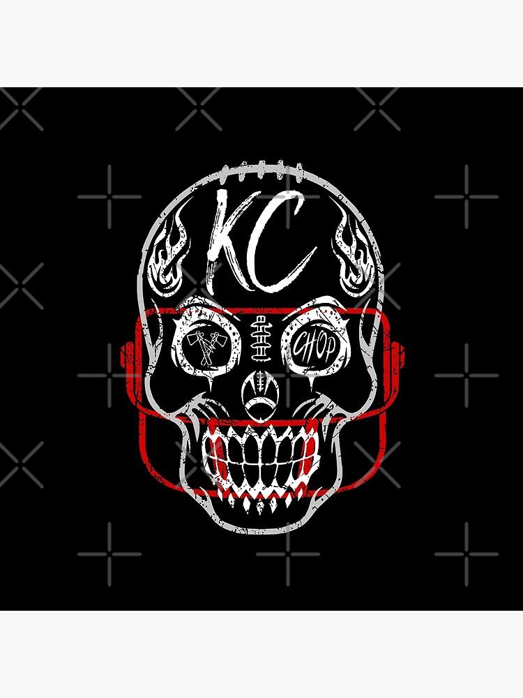 Kansas City Chiefs Sugar Skull Fan Gift Souvenir Football, Halloween by ArtByBollwitt