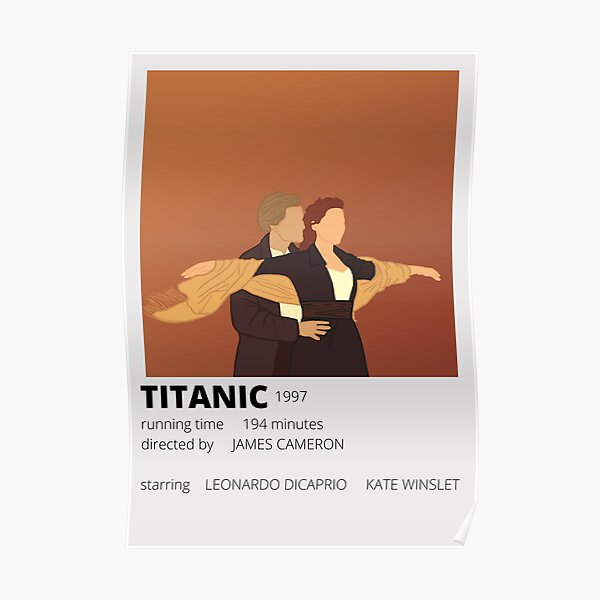 cartel minimalista titánico Póster