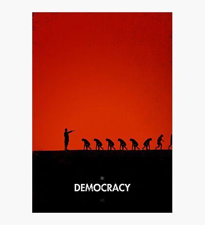 99 Steps of Progress - Democracy Photographic Print