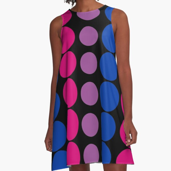 Bi Pride Dot (Updated) Pattern  A-Line Dress