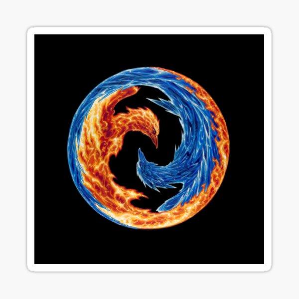 Fire and Ice - Art by Greg Hildebrandt Sticker