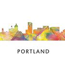 Portland, Oregon-Skyline - BW1 von Marlene Watson