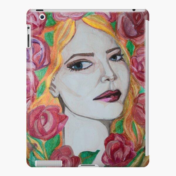 Ihre roten Haare und die grünen Stängel repräsentieren das Blut und die Vitalität des Lebens. iPad – Leichte Hülle