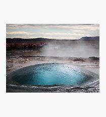 the blue bubble Photographic Print