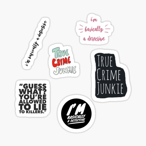 My True Crime Aesthetic Stickers Sticker