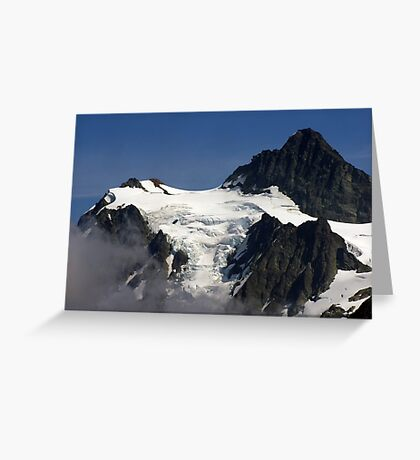 jagged rock and glacial snow Greeting Card