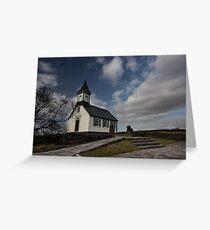 little church at Thingvellir national park Greeting Card