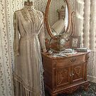 Lizzie Borden Dress hanging in sister Emma's Room by Jane Neill-Hancock
