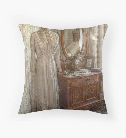Lizzie Borden Dress hanging in sister Emma's Room Throw Pillow