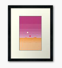Pixel Tatooine Landscape Framed Print