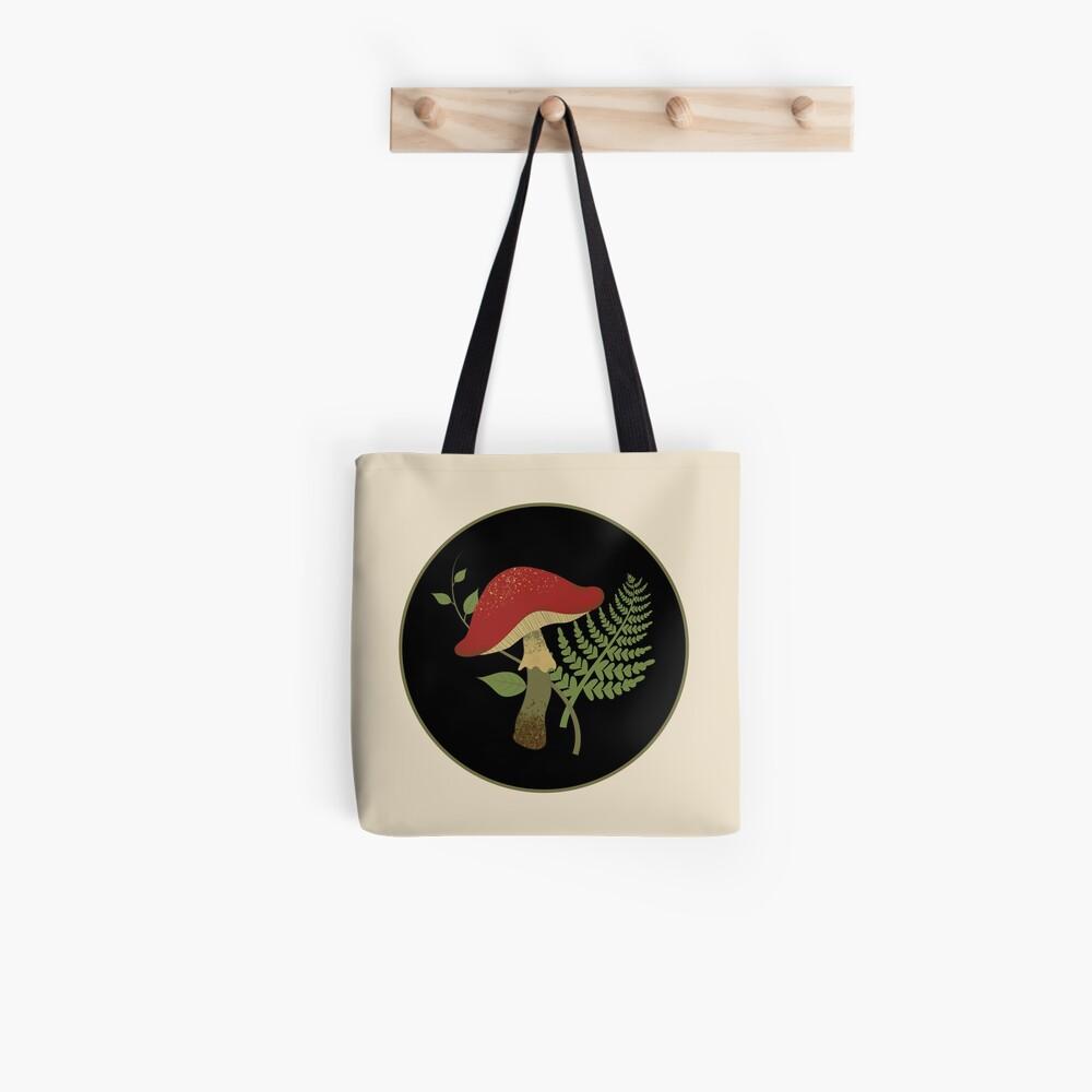 Mushroom and Fern Tote Bag