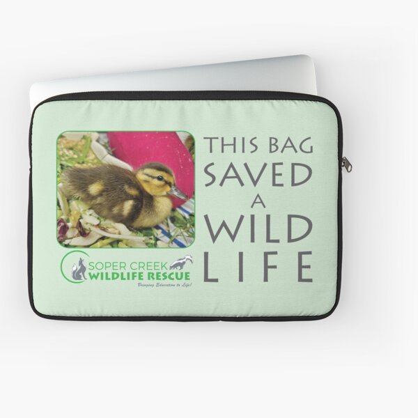 Ducky duckling - This bag helped SAVE a WILD life! Laptop Sleeve