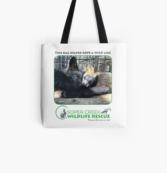 Scarlet and Ash fox kits - This bag helped SAVE a WILD life! All Over Print Tote Bag