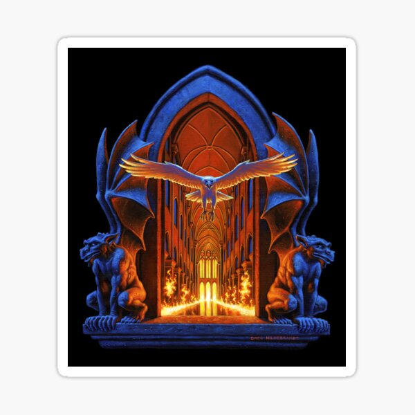 Night Castle - Art by Greg Hildebrandt Sticker