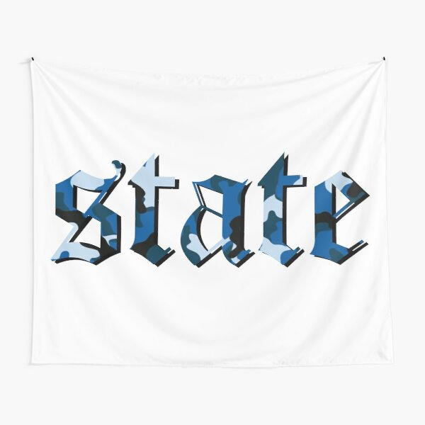 state lettering Tapestry