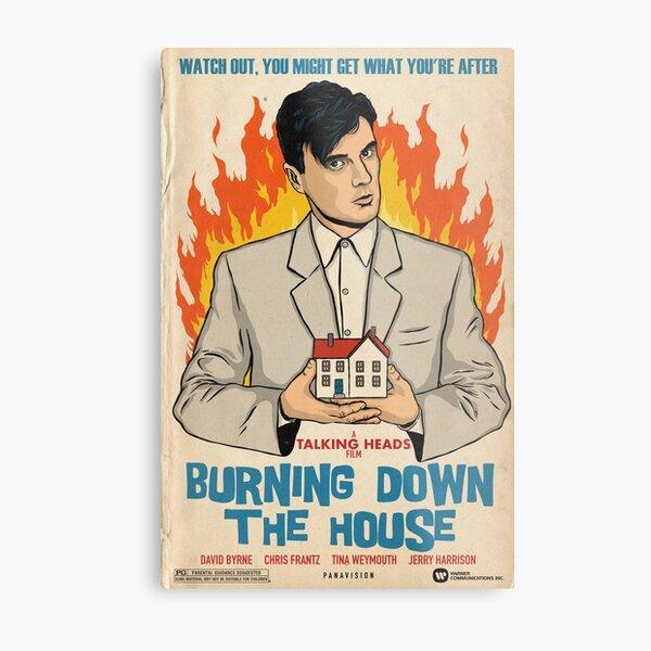 Burning Heads Metal Print