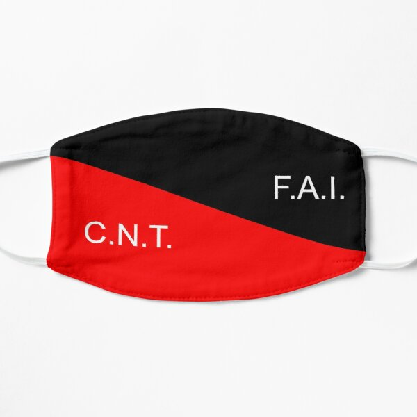 C.N.T. F.A.I. Anarco sindicalista Mascarilla