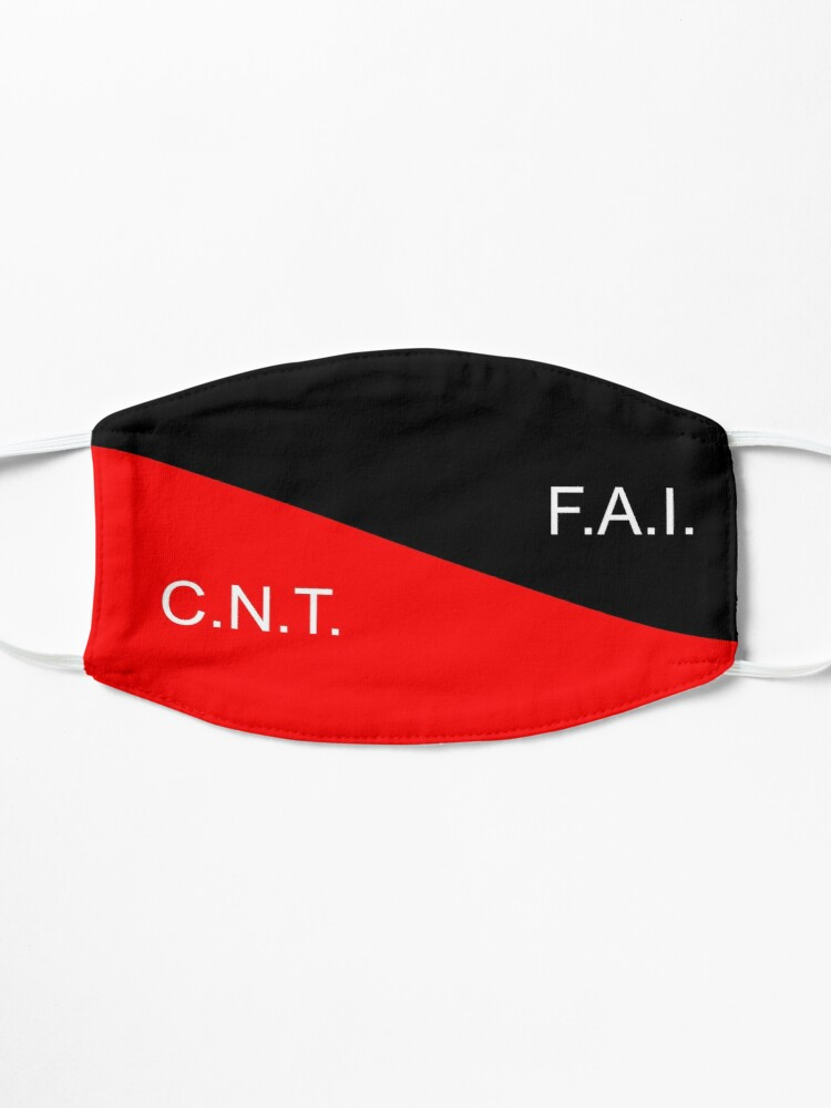 Alternate view of C.N.T. F.A.I. Anarcho Syndicalist  Mask
