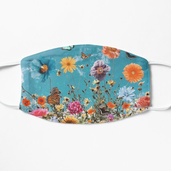 bloom daily planners wildflowers Flat Mask