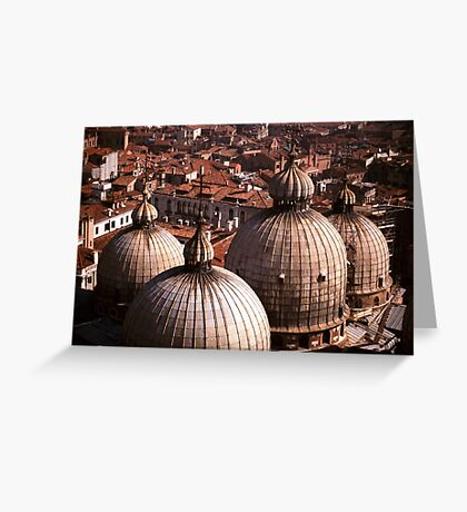 Domes of San Marco, Venice Greeting Card