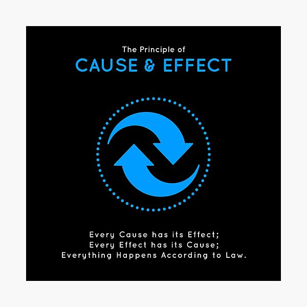 The Principle of Cause & Effect - Shee Symbol Photographic Print