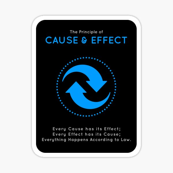 The Principle of Cause & Effect - Shee Symbol Sticker