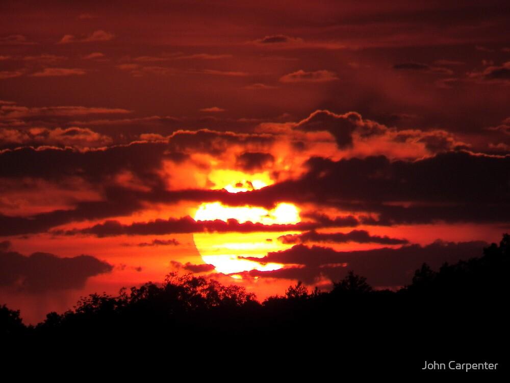 Blazing Sunset in September by John Carpenter